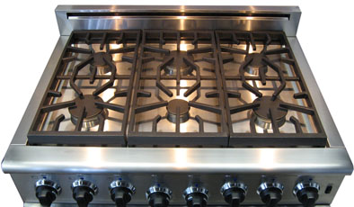 Top Burners On The American Range Heritage Clic 36 Inch Six Burner Model