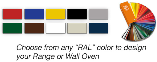 Color options for American Range